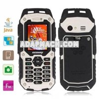 Jual T99 White Waterproof Ipx7+ Dustproof + Shockproof Mobile Phone ( Handphone )
