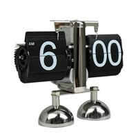 Balance Shaped Metal Auto Flip Down Clock Desktop Decorative Clock With Double Stand ( Jam Dinding )