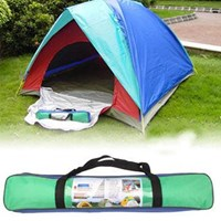 Quick Setting Dome Style 3-Person Camping Tent Pack With Carrying Bag For Outdoor Camping ( Peralatan Berkemah )
