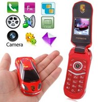 Jual M2 Red Car Keys Personality Mobile Phone Dual Sim Card Dual Standby ( Handphone )