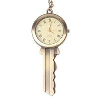 Jam Dinding Unik Key Style Alloy Chain Analog Quartz Pocket Watch ( Jam Dinding )