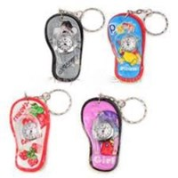 Fashion Slippers Shaped Key Ring Keychain Clock Watch ( Jam Dinding )