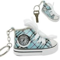 Classical Plimsolls Shaped Key Ring Keychain Clock Watch ( Jam Dinding )
