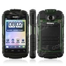 Dlscovery V5 Green Waterproof Ipx7 + Dustproof + Shockproof 3.2 Inch Capacitive Touch Screen Mobile Phone ( Handphone )