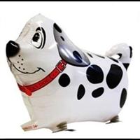 Jual Spot Dog Walking Pet White & Black ( Mainan Plastik )