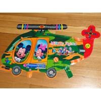 Jual Mickey & Minnie Military Fighter ( Mainan Plastik )