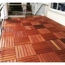 Lantai Kayu Decking Tiles Merbau