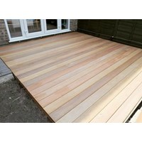 Lantai Kayu Parket Decking Timber