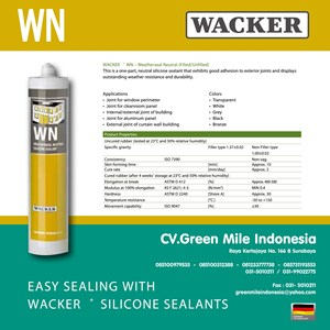 Silikon Kaca Weatherseal Neutral 300Ml