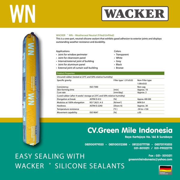 Silikon Kaca Weatherseal Neutral 600Ml