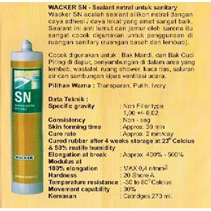 Dari Silikon Kaca Sanitary Neutral (SN) 1