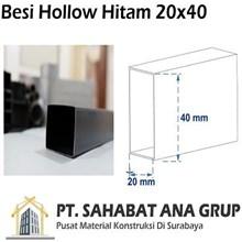 Besi Hollow Hitam 20x40x1.2