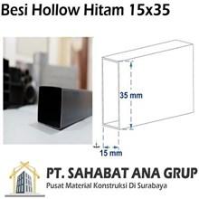 Besi Hollow Hitam 15x35x1.2 mm
