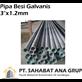 Pipa Besi Galvanis 3 Inch tbl 1.2