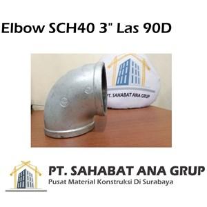 Elbow SCH40 3 inch Las 90D