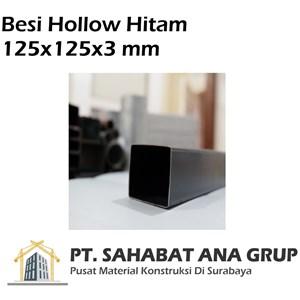 Besi hollow hitam 125x125x3 mm