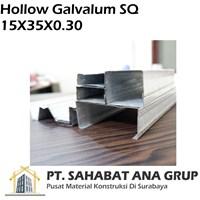 Hollow Galvalum SQ 15X35X0.30