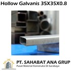 Besi Hollow Galvanis 35X35X0.8 mm 1