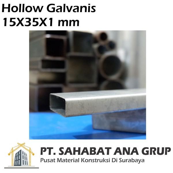 Besi Hollow Galvanis 15X35X1 mm