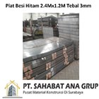Plat Besi Hitam 2.4Mx1.2M Tebal 3mm 1