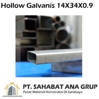 Hollow Galvanis 14X34X0.9