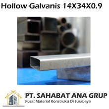 Hollow Galvanis 14X34X0.9