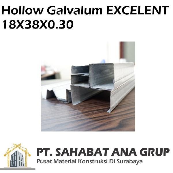 Hollow Galvalum EXCELENT 18X38X0.30