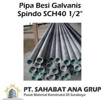 Pipa Galvanis Spindo SCH40 0.5 inch