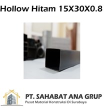 Besi Hollow Hitam 15x30x0.8