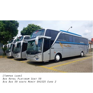 Sewa Bus Tangerang Murah Royal Platinum Seat 59