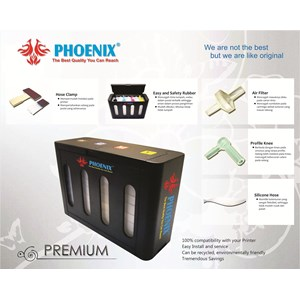Tinta Infus / Ciss Modifikasi Printer Epson-Canon-Hp-Brother - Phoenix Premium 100 Ml 4 Warna