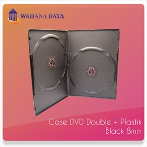 Case Dvd Double Tebal 8Mm Verve Hitam