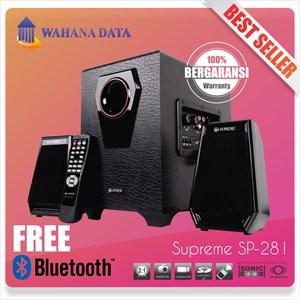 Speaker Aktif Multimedia Supreme 281 - Fm Radio - Usb - Memory Card - Remote - Led Display