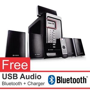 Speaker Aktif Home Theater 5.1 Channel Supreme 402 - Fm Radio - Usb - Memory Card - Remote - Led Display - Free Bluetooth