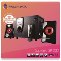 Speaker Aktif Multimedia Supreme 202 - Fm Radio - Usb - Memory Card - Remote