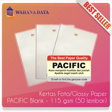 Kertas Foto Glossy Photo Paper A4 115 Gsm Pacific