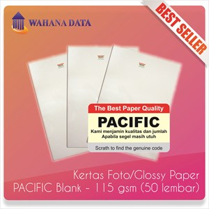 Kertas Foto Glossy Photo Paper A4 115 Gsm Pacific Proffesional - Isi 50