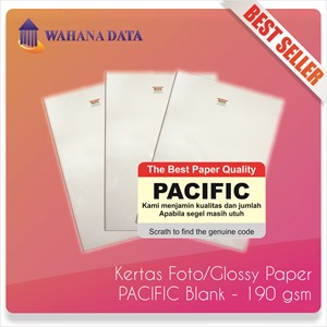 Kertas Foto Glossy Photo Paper A4 190 Gsm Pacific Proffesional - Isi 20