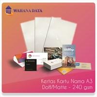 Kertas Foto Matte/Doff Linen Paper A3 240 Gsm Untuk Kartu Nama-Undangan Dll