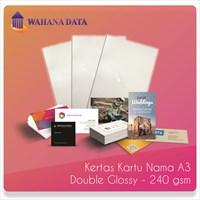 Kertas Foto Double Slide Glossy Linen Paper A3 240 Gsm Untuk Kartu Nama-Undangan Dll