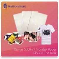Kertas Transfer Sublim / Sublime Transfer Paper A4 Glow In The Dark - Isi 10 Untuk Media Gelap/Hitam