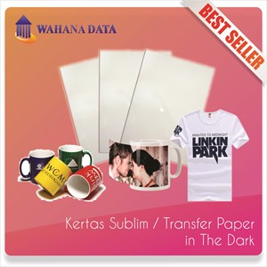 Kertas Transfer Sublim / Sublime Transfer Paper A4 In The Dark - Isi 10 Untuk Media Gelap/Hitam