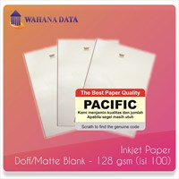 Kertas Foto Inkjet Photo Paper A4 Doff/Mate Pacific 128 Gsm - Isi 100