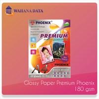 Kertas Foto Glossy Photo Paper A4 180 Gsm Phoenix Premium - Isi 20