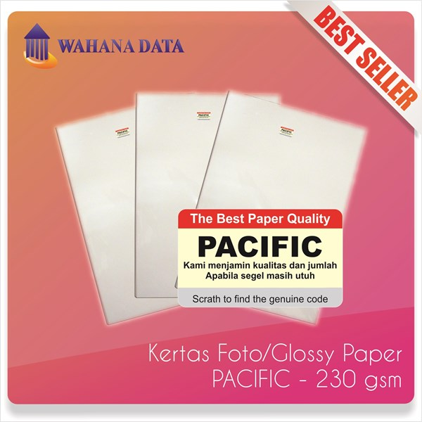 Glossy Photo Paper A4 230 Gsm Pacific Premium