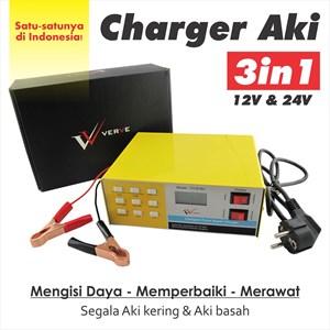 Charger + Service Aki Rusak Untuk Mobil/Motor 12V & 24V Full Otomatis
