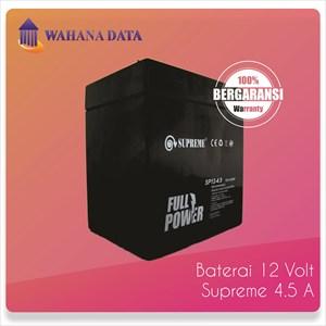 Baterai Aki Kering Ups Vrla (Accu Battery) Supreme 12V 4.5A