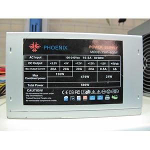 Power Supply / Psu Komputer Phoenix 500 Watt - Untuk Pc Intel Dan Amd