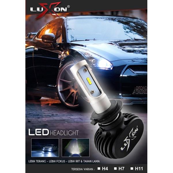 2 Pcs Headlight / Lampu Depan Led Mobil Luxon S1 H1 / H7 / H11 - 4000Lm