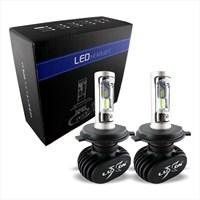 2 Pcs Headlight / Lampu Depan Led Mobil Luxon H4 - 4000Lm